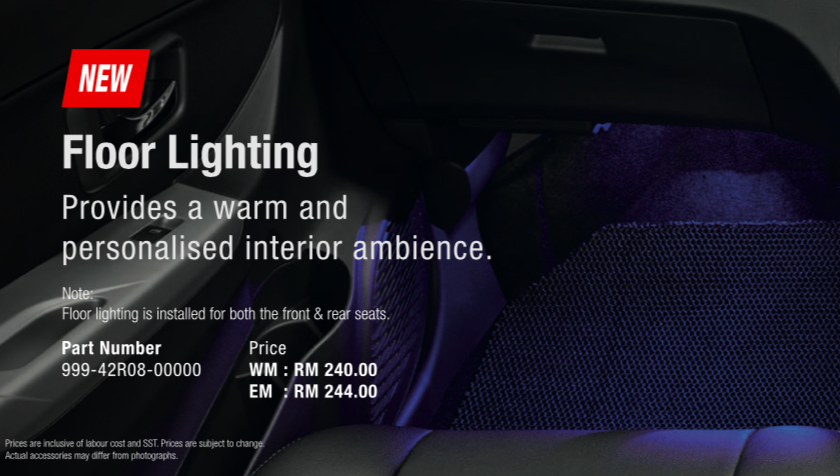 2020 Perodua Bezza GearUp accessories – full bodykit with LED light guides, seat covers, arm rest and more Image #1066014