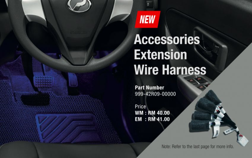 2020 Perodua Bezza GearUp accessories – full bodykit with LED light guides, seat covers, arm rest and more Image #1066015
