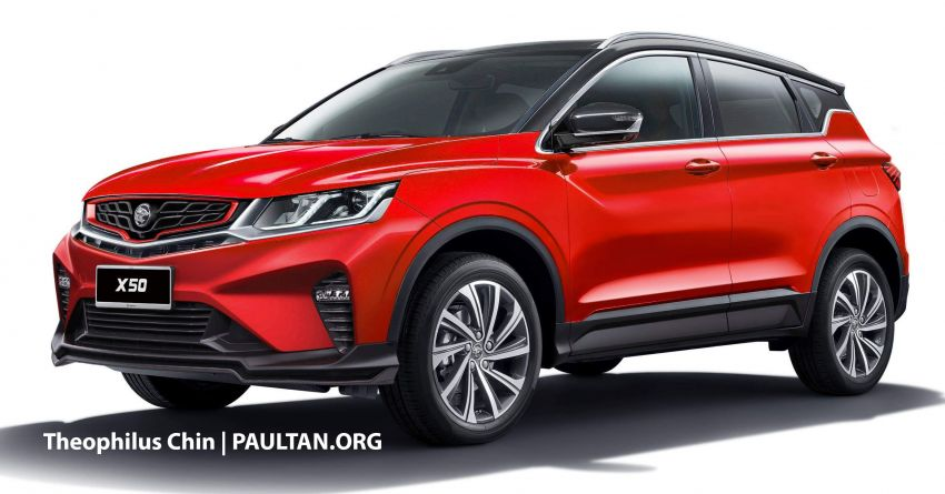 2020 Proton X50 SUV – better with a black roof or not? Image #1072785