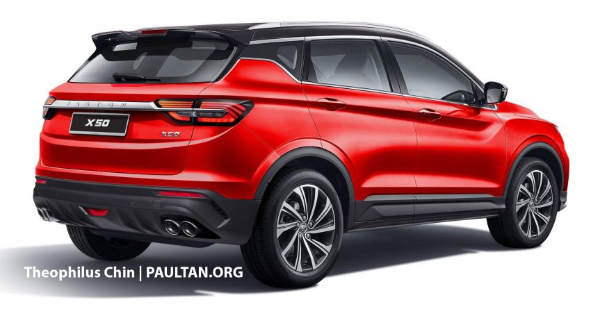 2020 Proton X50 SUV – better with a black roof or not? Image #1072786