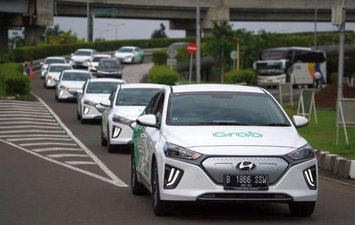 Grab, Hyundai introduce GrabCar Elektrik in Indonesia Image #1074679