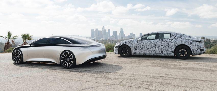 Mercedes-Benz EQS teased, prototype next to concept Image #1074877