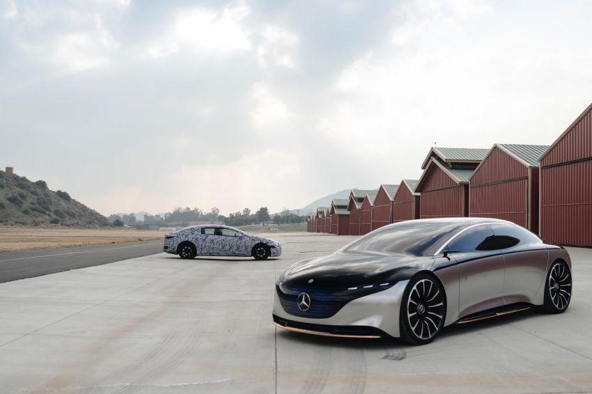 Mercedes-Benz EQS teased, prototype next to concept Image #1074878