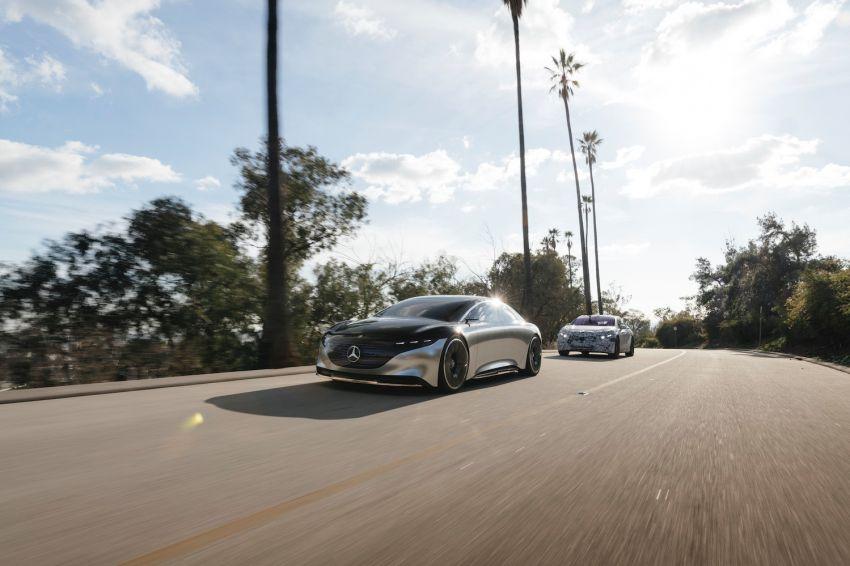 Mercedes-Benz EQS teased, prototype next to concept Image #1074879