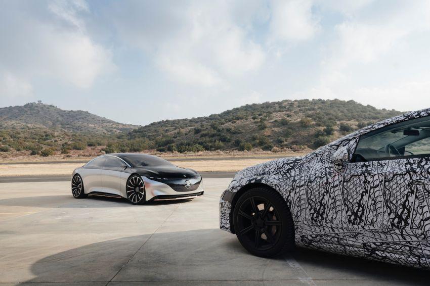 Mercedes-Benz EQS teased, prototype next to concept Image #1074936