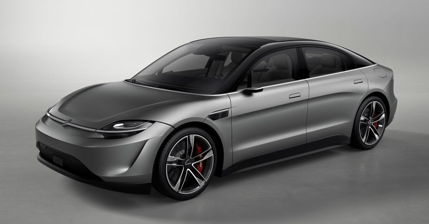 Sony Vision-S concept car unveiled at CES 2020; dual-motor powertrain, provision for Level 4 self-driving Image #1065587