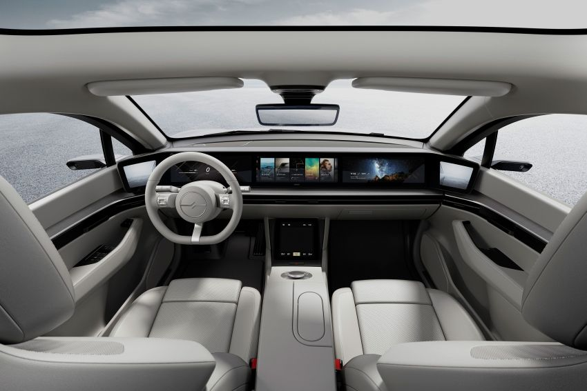 Sony Vision-S concept car unveiled at CES 2020; dual-motor powertrain, provision for Level 4 self-driving Image #1065613