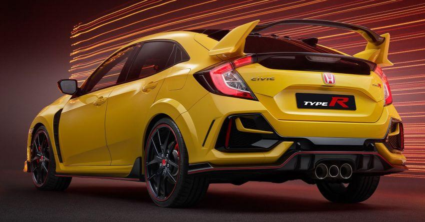 2020 Honda Civic Type R Limited Edition revealed – 47 kg lighter, limited units; new Sport Line joins range Image #1084960