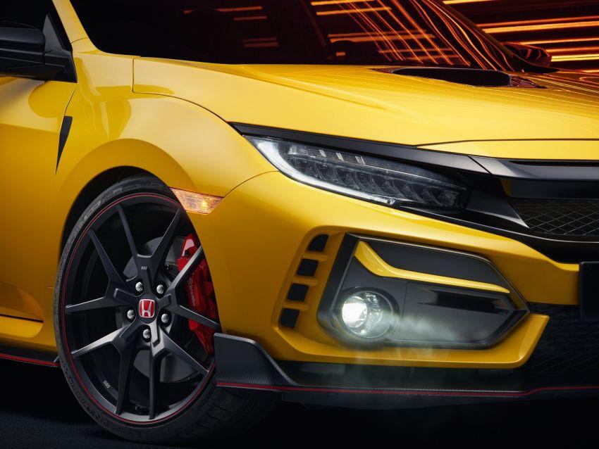 2020 Honda Civic Type R Limited Edition revealed – 47 kg lighter, limited units; new Sport Line joins range Image #1084969