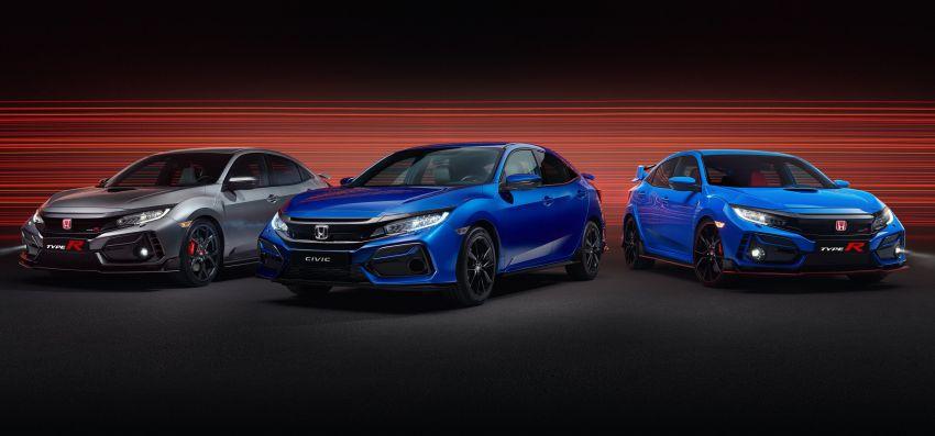 2020 Honda Civic Type R Limited Edition revealed – 47 kg lighter, limited units; new Sport Line joins range Image #1084953