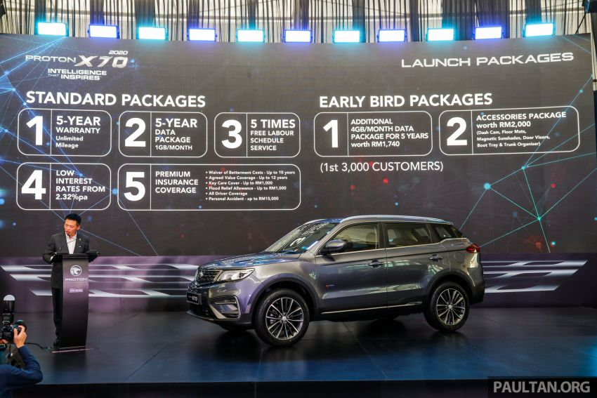 2020 Proton X70 CKD launched: Volvo 7DCT, +15 Nm, 13% better economy, more features, RM95k to RM123k Image #1080928
