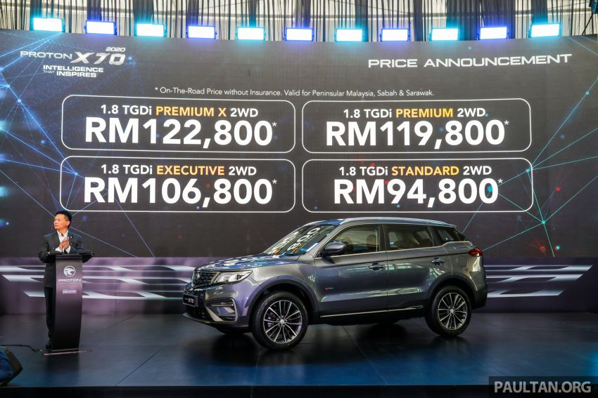 2020 Proton X70 CKD launched: Volvo 7DCT, +15 Nm, 13% better economy, more features, RM95k to RM123k Image #1080929