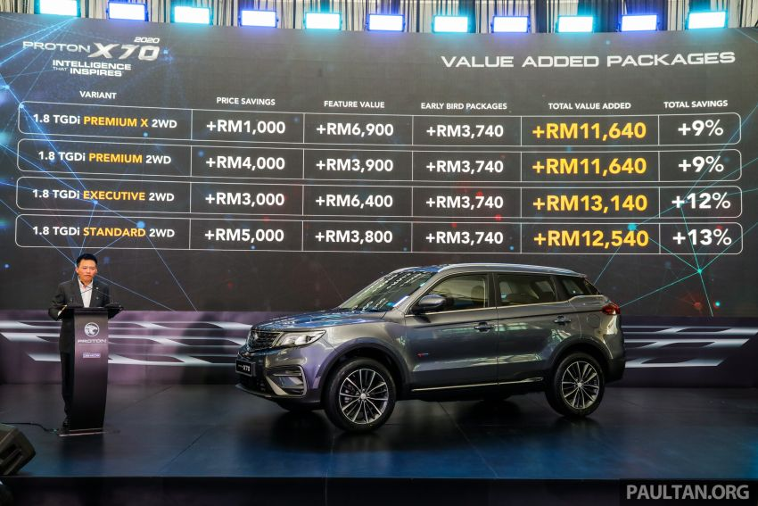 2020 Proton X70 CKD launched: Volvo 7DCT, +15 Nm, 13% better economy, more features, RM95k to RM123k Image #1081333