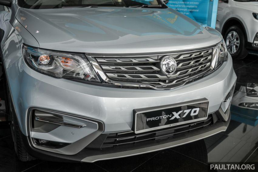Proton X70 CKD dilancarkan secara rasmi – harga bermula RM95k, kotak gear DCT 7-kelajuan, 4 varian Image #1080959