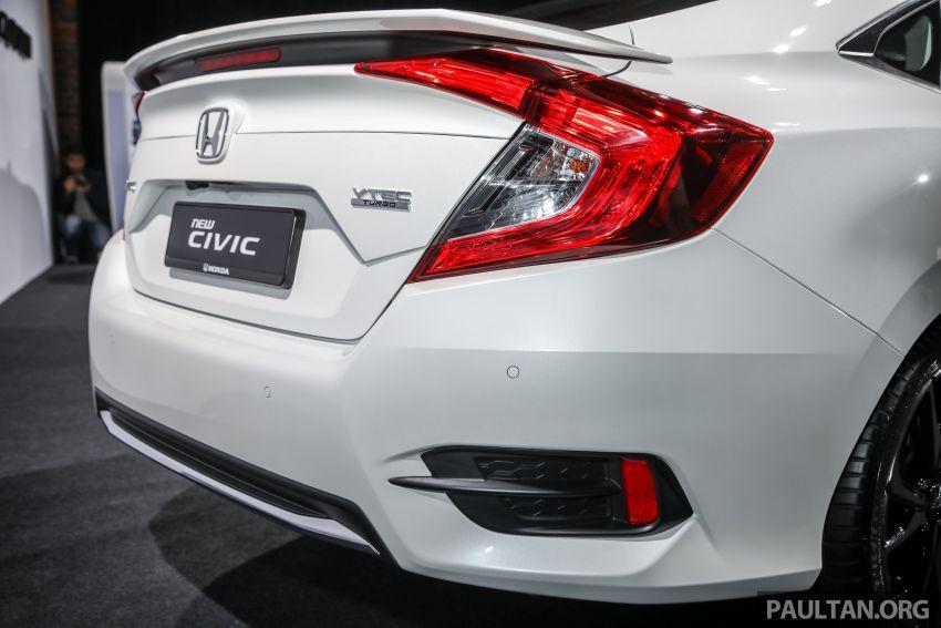 Honda Civic 2020 diperkenalkan secara rasmi di M'sia – dengan Honda Sensing, harga bermula RM113,600 Image #1087646