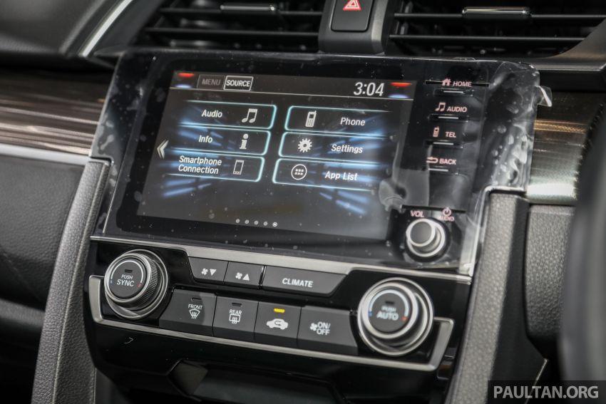Honda Civic 2020 diperkenalkan secara rasmi di M'sia – dengan Honda Sensing, harga bermula RM113,600 Image #1087659