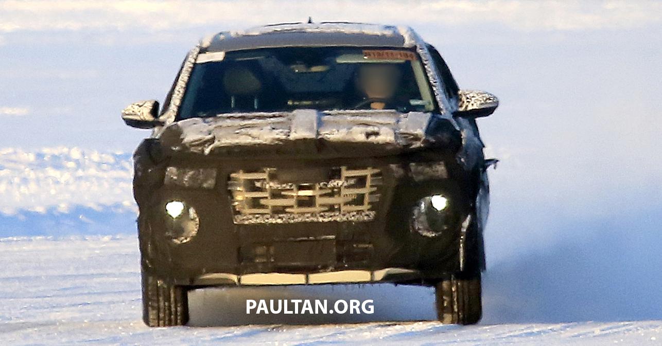 2021 - [Hyundai] Pickup  Hyundai-Santa-Cruz-pick-up-spyshots-1