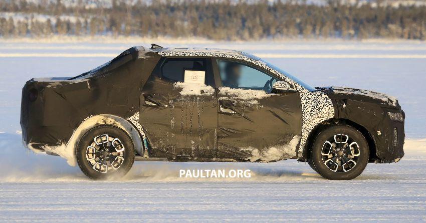 2021 - [Hyundai] Pickup  Hyundai-Santa-Cruz-pick-up-spyshots-8-850x445