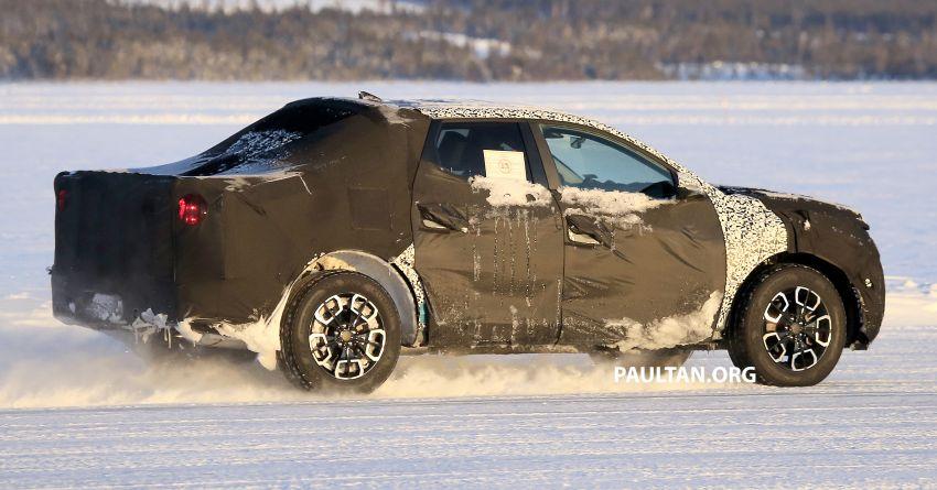 2021 - [Hyundai] Pickup  Hyundai-Santa-Cruz-pick-up-spyshots-9-850x445
