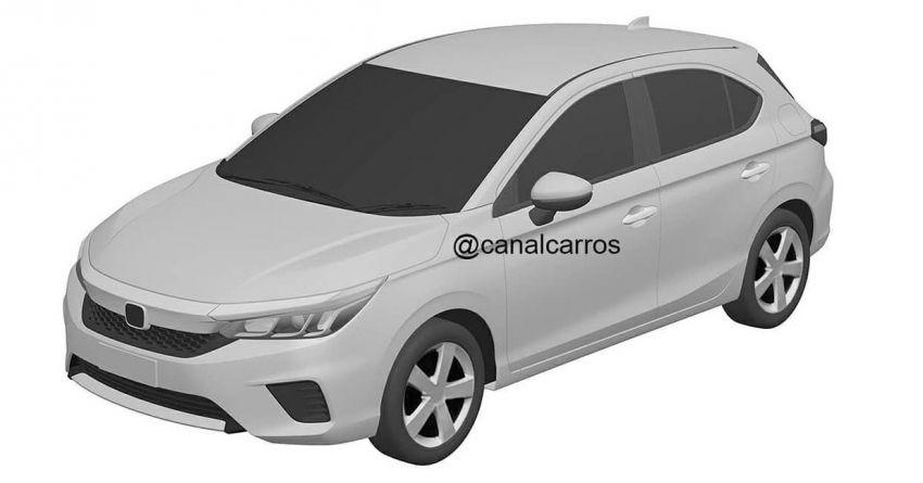 New Honda City hatchback patent drawings revealed Image #1209923