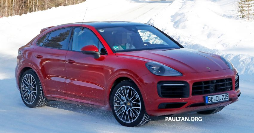 SPIED: Porsche Cayenne Coupe GT – new tailpipes signify higher performance version with over 800 hp? Image #1088486