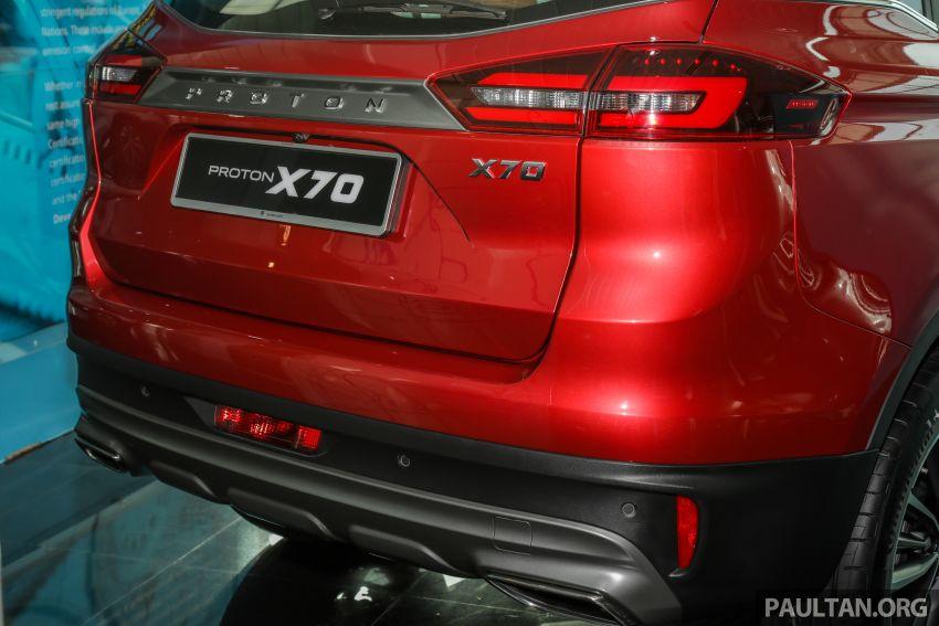 Proton X70 CKD dilancarkan secara rasmi – harga bermula RM95k, kotak gear DCT 7-kelajuan, 4 varian Image #1081261