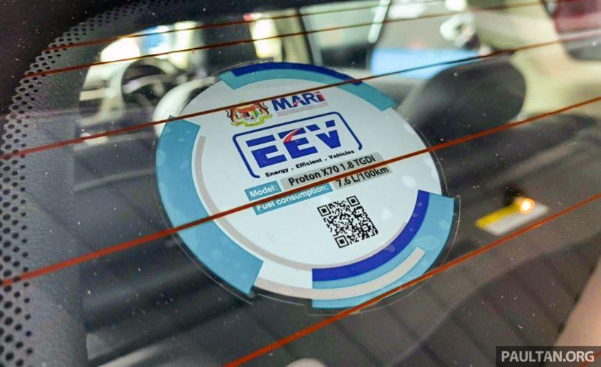 Proton X70 CKD kereta pertama guna label EEV MARii Image #1081708