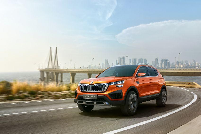 Skoda Vision IN concept previews crossover for India; MQB A0-IN platform model set for 2021 market debut Image #1076573