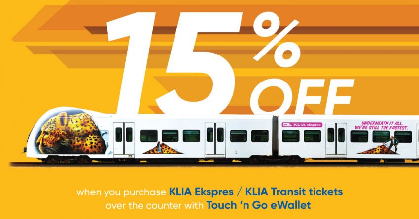 Touch 'n Go eWallet now usable to purchase KLIA Express, KLIA Transit tix – 15% discount until June 30