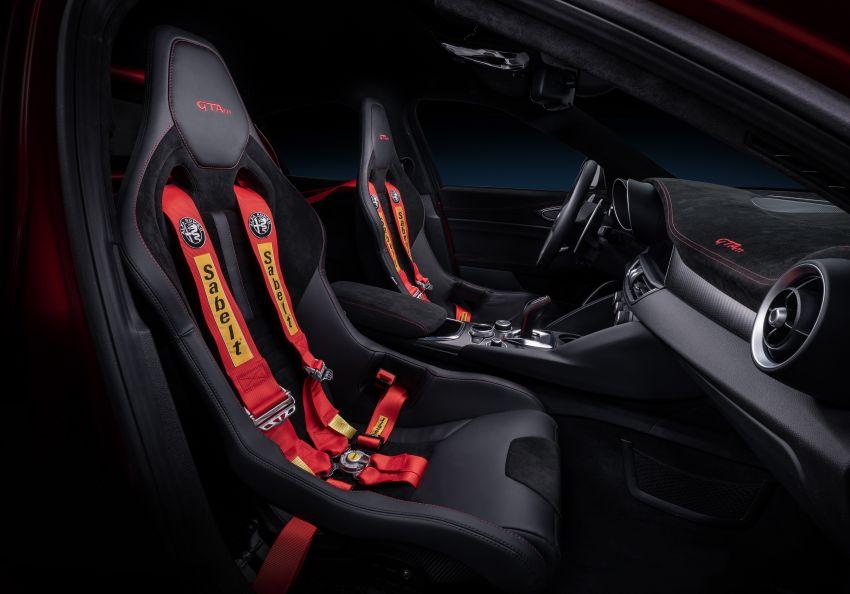 Alfa Romeo Giulia GTA debuts – steroidal Quadrifoglio gets 2.9L biturbo V6, 540 hp; limited to 500 units only! Image #1090151