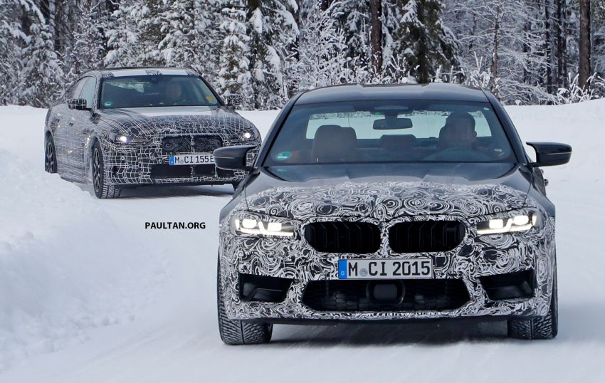 SPIED: F90 BMW M5 facelift – new style, more power? Image #1099941