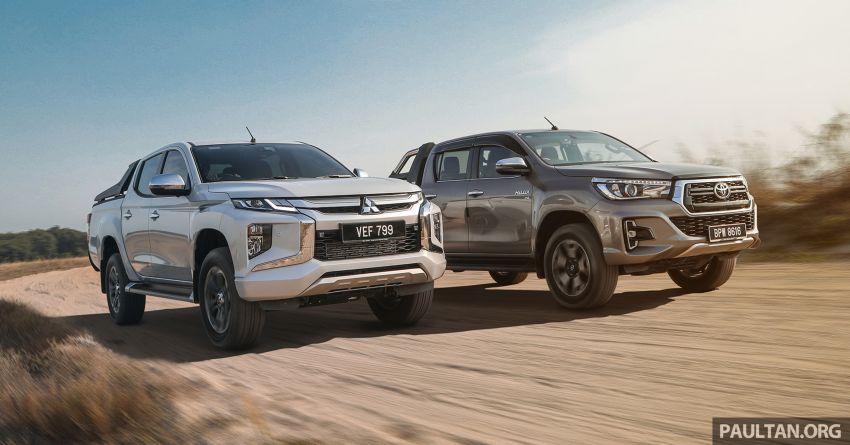 Toyota Hilux 2.8L versus Mitsubishi Triton 2.4L – which one of the two pick-up trucks is more fuel efficient? Image #1097288