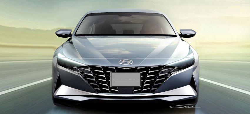 2021 Hyundai Elantra, Elantra Hybrid debut – four-door coupe style, dual-screen setup, 64-colour LED lights! Image #1096654