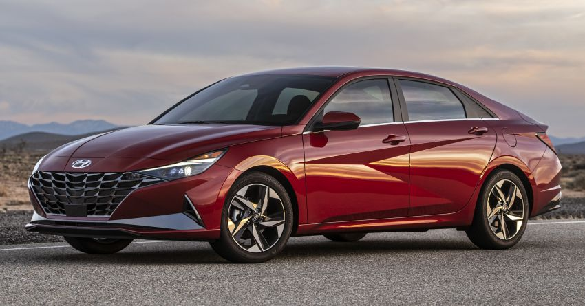 2021 Hyundai Elantra, Elantra Hybrid debut – four-door coupe style, dual-screen setup, 64-colour LED lights! Image #1096667
