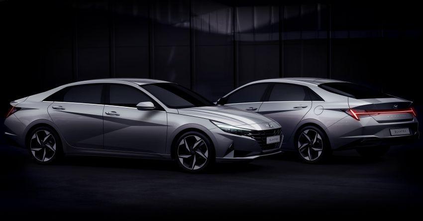 2021 Hyundai Elantra, Elantra Hybrid debut – four-door coupe style, dual-screen setup, 64-colour LED lights! Image #1096687