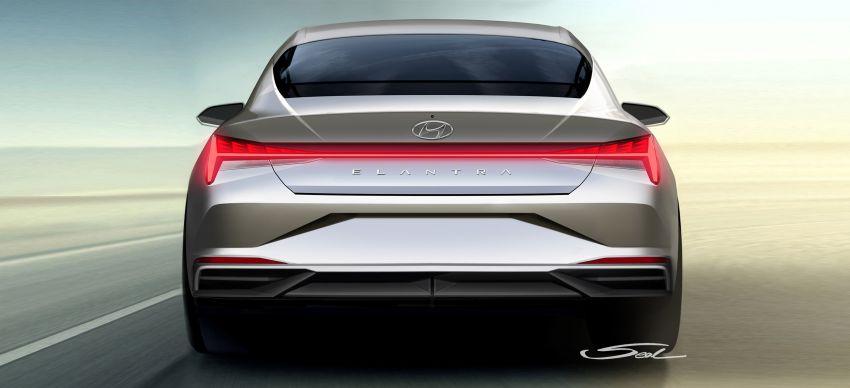 2021 Hyundai Elantra, Elantra Hybrid debut – four-door coupe style, dual-screen setup, 64-colour LED lights! Image #1096655