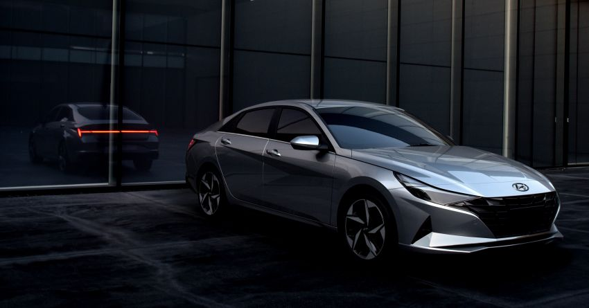 2021 Hyundai Elantra, Elantra Hybrid debut – four-door coupe style, dual-screen setup, 64-colour LED lights! Image #1096658