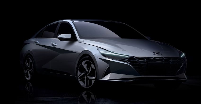 2021 Hyundai Elantra, Elantra Hybrid debut – four-door coupe style, dual-screen setup, 64-colour LED lights! Image #1096659