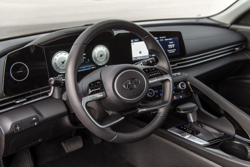 2021 Hyundai Elantra, Elantra Hybrid debut – four-door coupe style, dual-screen setup, 64-colour LED lights! Image #1096675