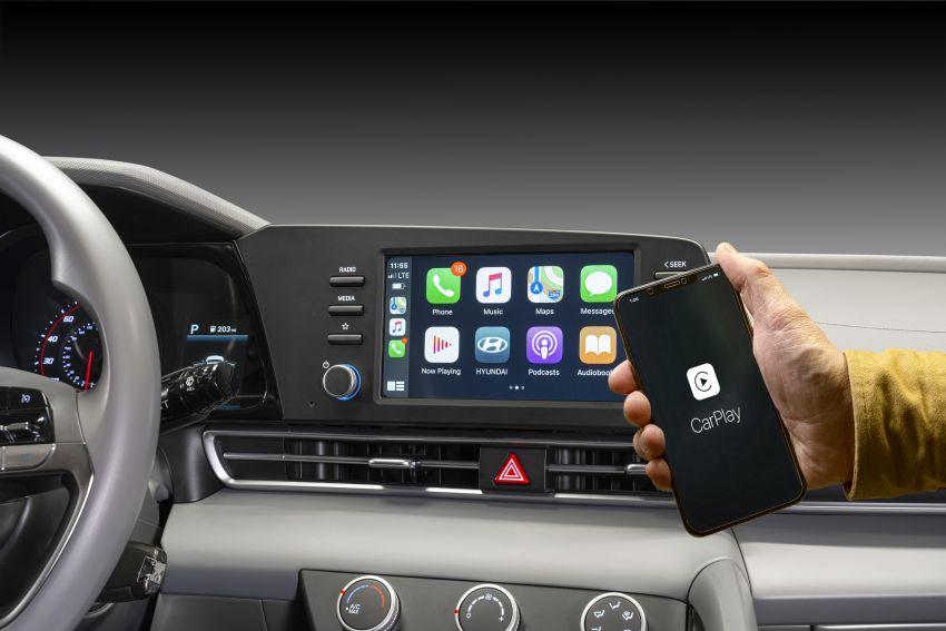 2021 Hyundai Elantra, Elantra Hybrid debut – four-door coupe style, dual-screen setup, 64-colour LED lights! Image #1096684