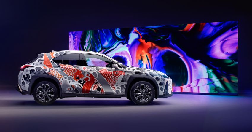 This 2020 Lexus UX is the world's first tattooed car Image #1100324