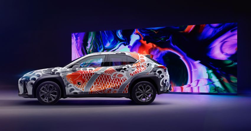 This 2020 Lexus UX is the world's first tattooed car Image #1100325