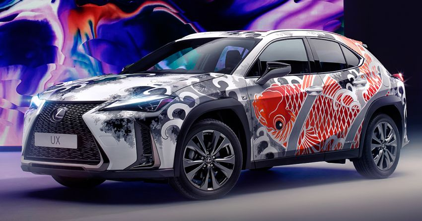 This 2020 Lexus UX is the world's first tattooed car Image #1100328