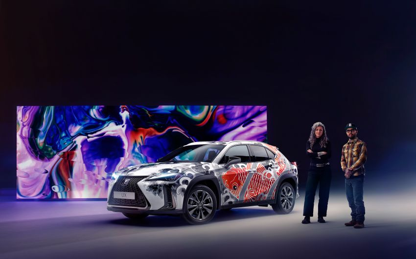 This 2020 Lexus UX is the world's first tattooed car Image #1100329