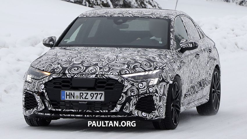 SPIED: 2021 Audi RS3 Sedan – 4 doors, over 400 hp Image #1099536