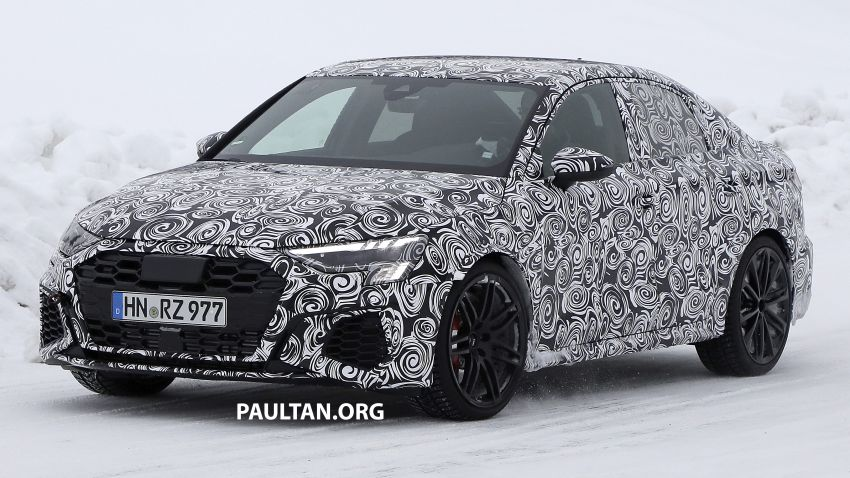 SPIED: 2021 Audi RS3 Sedan – 4 doors, over 400 hp Image #1099538