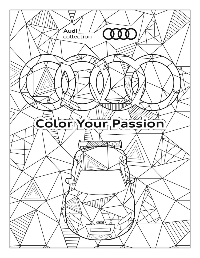 Mercedes-Benz, Audi colouring images to pass time Image #1099712
