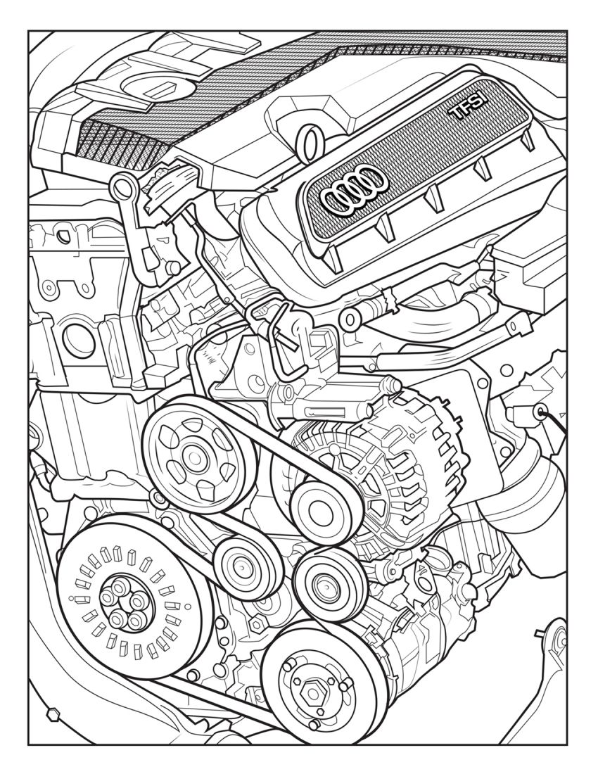Mercedes-Benz, Audi colouring images to pass time Image #1099720