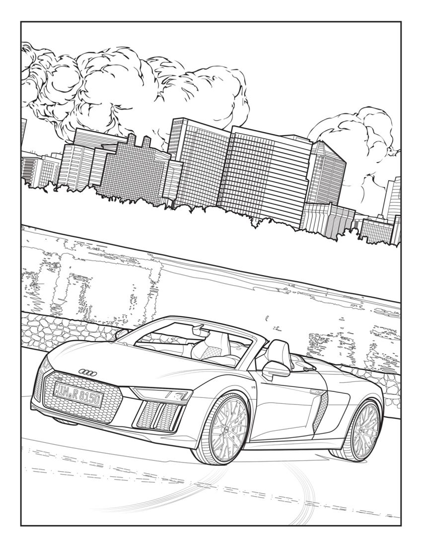 Mercedes-Benz, Audi colouring images to pass time Image #1099721