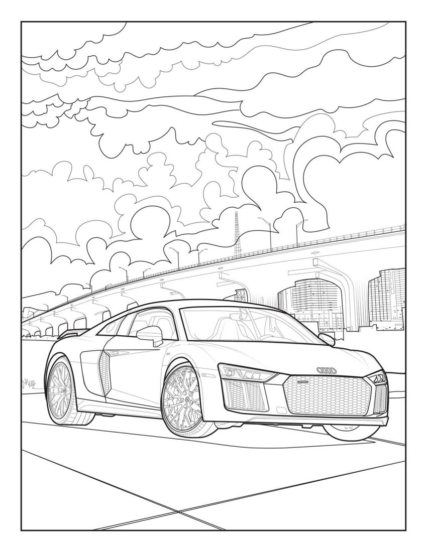 Mercedes-Benz, Audi colouring images to pass time Image #1099722